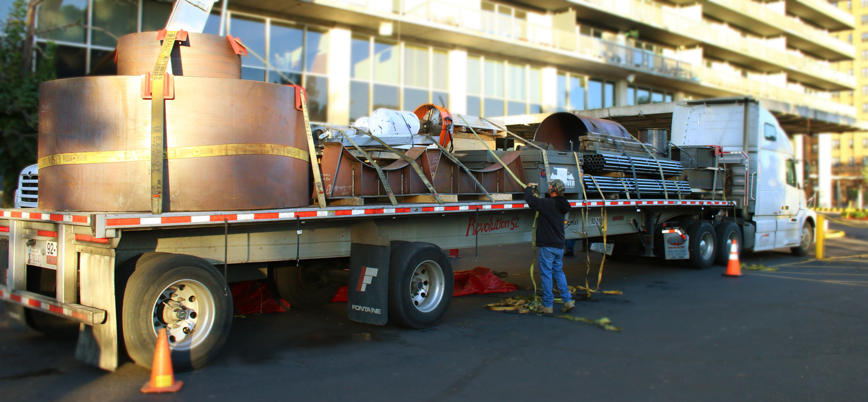 Site-Assembled Boiler Delivery
