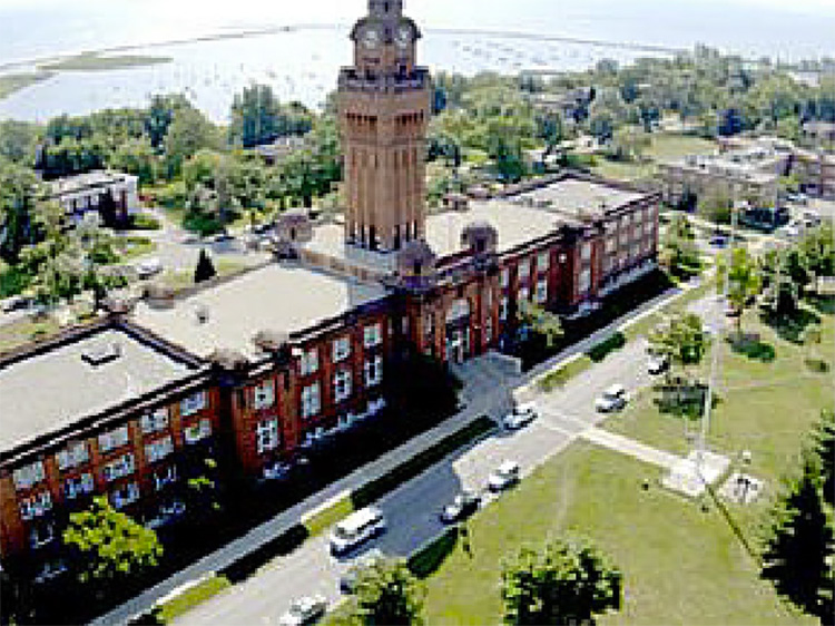 Great Lakes Naval Training Center Aerial